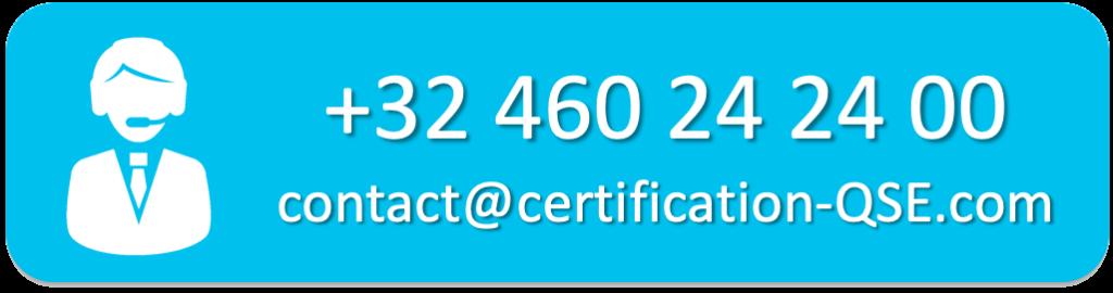 Ccontact certification QSE Belgique